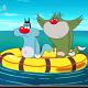 Phim hoạt hình mèo Oggy tập 31: Mèo Jack và Oggy lạc trên biển.